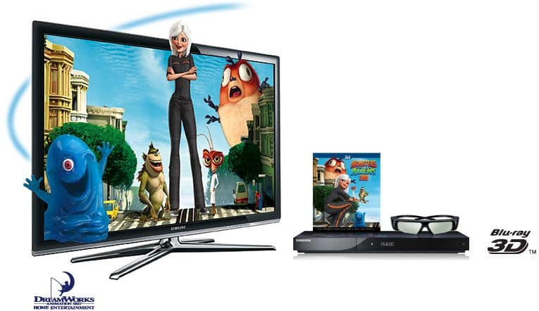 3D television with Blu-ray player